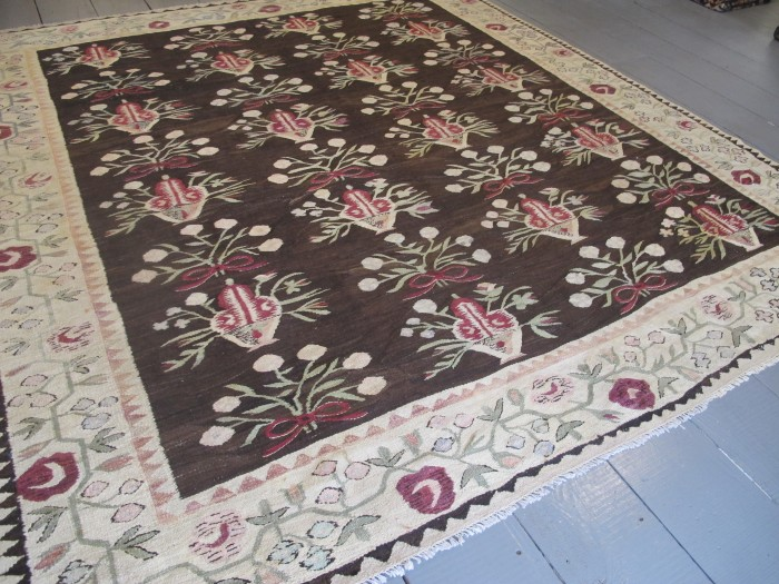 Very Decorative Ukrainian Kilim