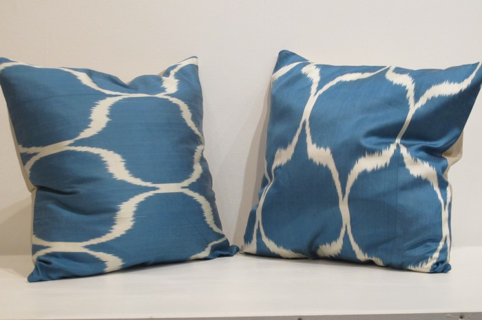 Pair of Silk Ikat Cushions