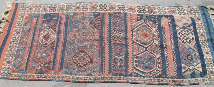 Interesting Antique Kurdish Kilim