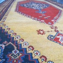 Image of Spectacular Kurdish Carpet with Saffron Field