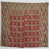 Image of Rare Russian Silver Brocaded Silk Ikat Kavanat