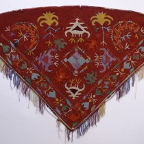 Image of Uzbek Silk Embroidered Horse Cover